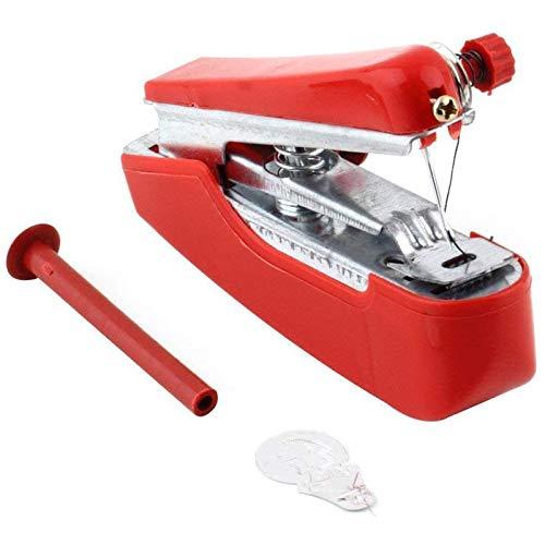 ELECTRONIC-MEI Manual de Operación portátil Mini máquina de Coser Creativas Sencillas de Costura Herramientas Hogar Pequeño Viaje Bordado Color al Azar