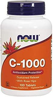 Now Foods C-1000 Vitamin C with Rose Hips - 100 Tabs