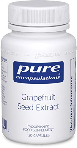 Pure Encapsulations - Grapefruit Seed Extract - Hypoallergenic Grapefruit Essential Oil Supplement - 120 Capsules