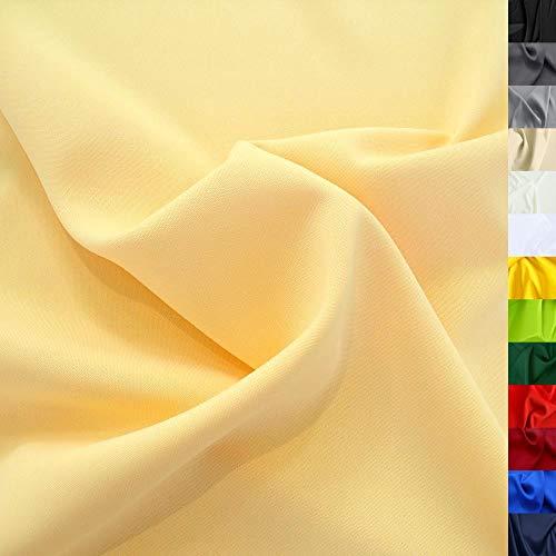 Modestoff / Dekostoff universal Stoff ALLROUND knitterarm - Meterware am Stück (Gelb-Beige)