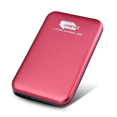 Externe Festplatte 1tb,USB 3.0 für PC, Mac, Desktop, Laptop, MacBook, Chromebook (1tb, rot)