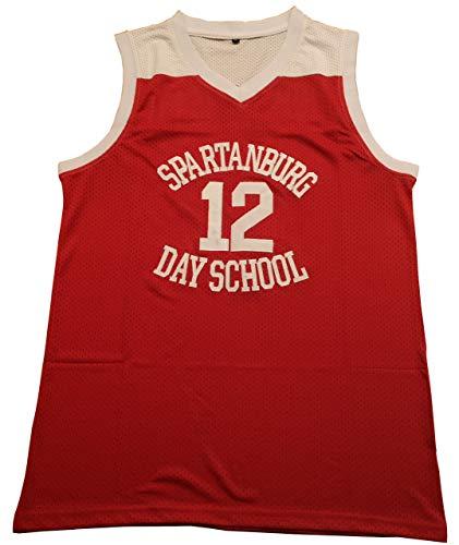 Kooy Williamson #12 Spartanburg Griffins Day High School Basketball Jersey Men (Red, Medium)