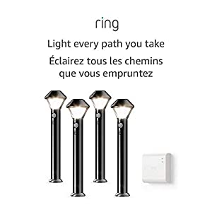 Introducing Ring Smart Lighting - Pathlight, Black (Starter Kit: 4-pack)