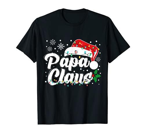 Papa Claus Christmas Dad Santa Family Matching Pajama Xmas T-Shirt