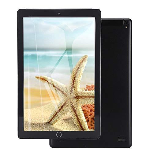 Tableta de 10.1 ', Tableta portátil con pantalla IPS Full-View Tablet PC, Almacenamiento de 1GB + 16GB, Procesador Quadcore, Cámara dual, Llamada 3G con tarjeta doble, Wi-Fi/GPS/FM/Bluetooth(negro)