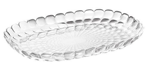Guzzini Vassoio a Servire Piccolo Tiffany, Trasparente, 32 x 22.5 x h3 cm