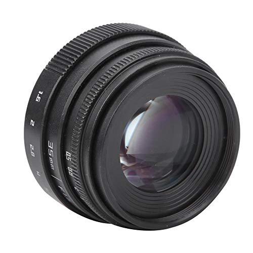 VBESTLIFE カメラレンズ 35mmF1.6大口径 CCTVポートレート固定焦点 Cマウントレンズ 手動絞りミラーレスカメラ用(Cマウント)