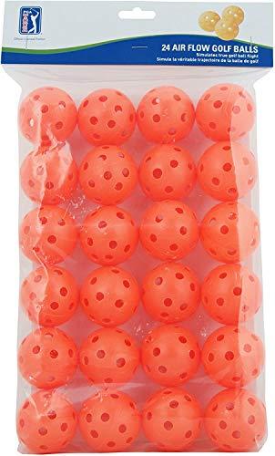 PGA Tour 24 Air Flow Practice Golf Balls - Orang