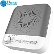 White Noise Machine, Sleep Sound Machine with 17 Non-Looping Soothing Sounds for Baby Adults Kids Sleeping & Relaxation - High Quality Speaker, Portable Sleep Therapy Machine