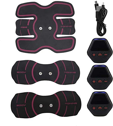 WNN-URG Ccsme del músculo abdominal del entrenador, LCD Ejercicio Parche de fitness, Portátil ABS Estimulador, pérdida de peso muscular aptitud del edificio Equipo de formación, con 10 Modos 20 Fuerza