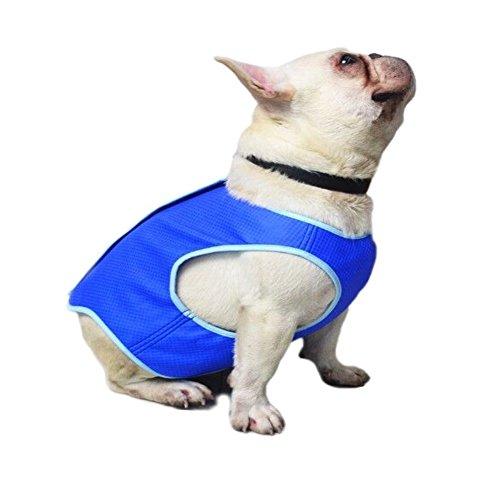 Bonaweite Dog Cooling Vest, Pet Harness Cooler Jacket Coats Swamp Cooler for Puppies Cats Kittens, Blue-S