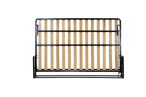 WallBedKing Horizontaal Opklapbedden (Muurbedden, Murphy bed, Verborgen bedden) … (Twijfelaar 120cm x 200cm)
