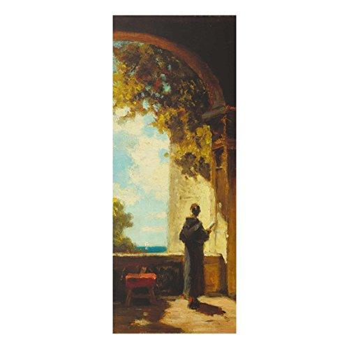 Bilderwelten Glasbild Lyonel Feininger - Draisinen-Fahrer (Laufräder) 80 cm x 30 cm