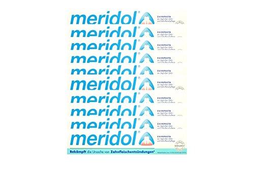 10x meridol Zahnfleischschutz Zahnpasta 75ml Zahncreme, Weisse Zähne