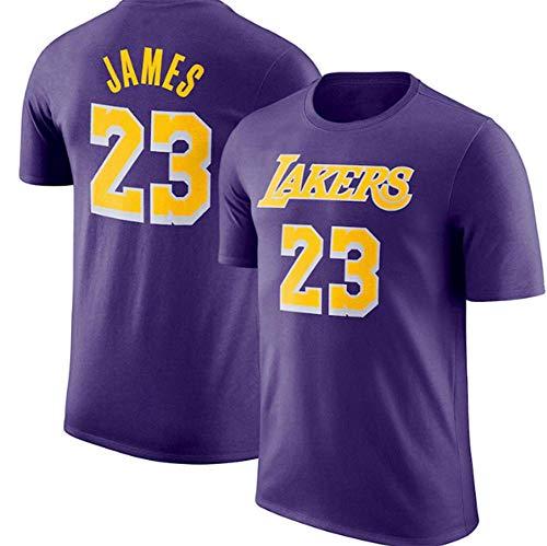 HANJIAJKL Camiseta para Hombre,Camiseta de Baloncesto,Camiseta NBA Lakers # 23,Camiseta de Baloncesto (S-XXXL),Purple a,XL