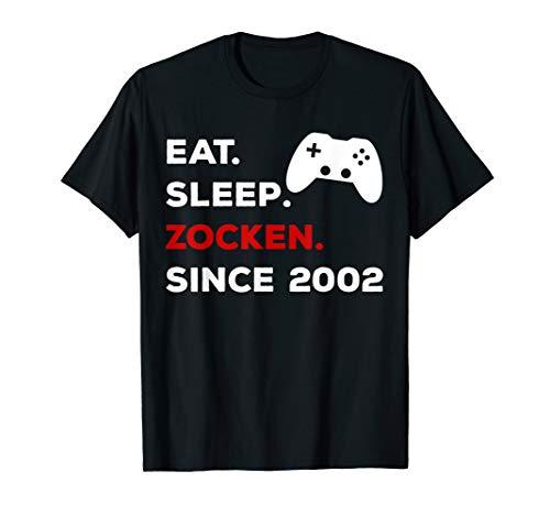 18. Geburtstag 2002 Gamer Zocker Teenager Party Geschenk T-Shirt
