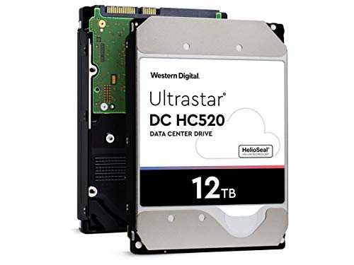 HGST WD Ultrastar DC HC520 12TB SATA 6Gb/s 3.5-Inch Data Center Hard Drive - HUH721212ALE600 (0F29590) (Renewed)