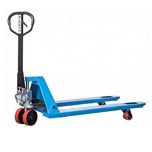 DAZONE Heavy Duty Pallet Jack Truck M30, Manual Pallet Jack 6600 lb. Hand Pallet Truck 27'x 48' for Loading, Unloading and Handling palletized Goods in Warehouse Dock Supermarket Workshops and Homes
