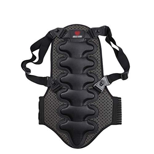 Sentao Unisex Rückenschutz Wirbelsäulenschutz Rückenprotektor für Ski, Snowboard, Reiten und Motocross (Schwarz, Asia XL)