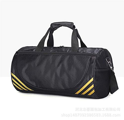 JWIL Sports Duffels Lightweight Sport Gym Bag Yoga Bag Cylinder Taekwondo Backpack Travel Bag for Yoga Swim (Color : White line, Size : S)