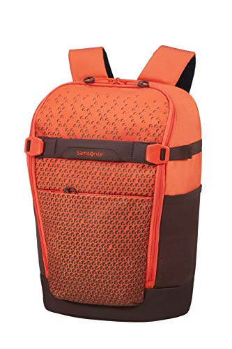 SAMSONITE Hexa-Packs - Laptop Backpack Small - Day Rucksack, 43 cm, 16 Liter, Orange Print