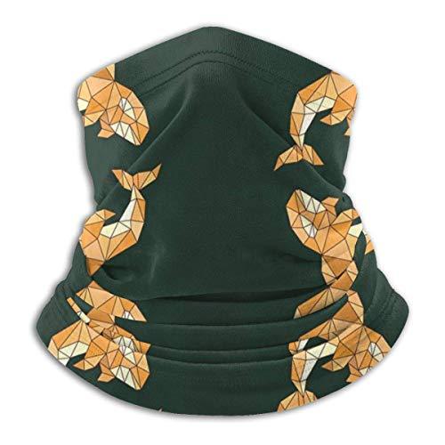 IZOU Whale Orca Pattern Polygonal Neck Gaiter Face Mask,Multifunction for Man Women seasons Magic Scarf Bandana Balaclava