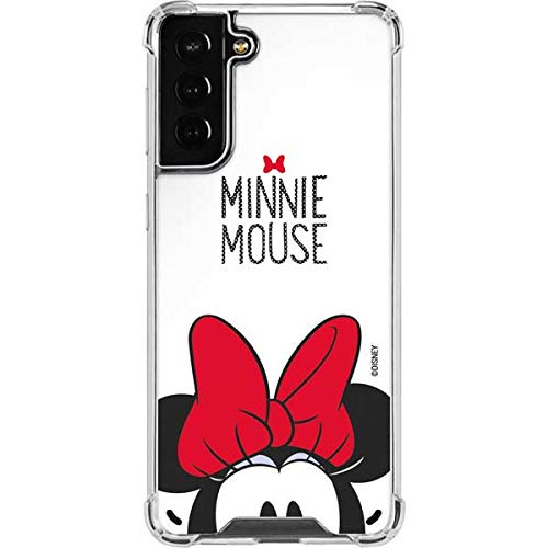 Skinit Clear Phone Case Compatible with Samsung Galaxy S21 Plus 5G - Officially Licensed Disney Minnie Mouse Design