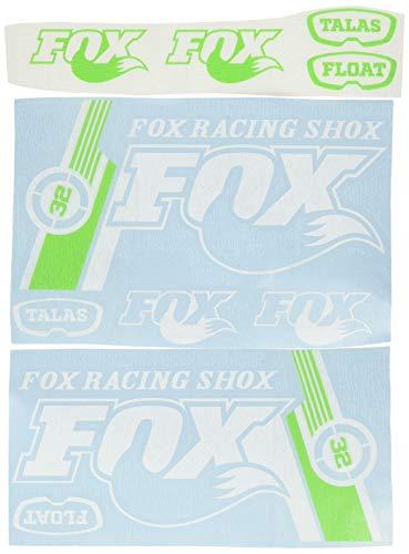 Ecoshirt EO-5AYO-O8KB Pegatinas Fox Flota 32 Bikes R141 Vinilo Adesivi Decal Aufkleber Клей MTB Stickers Bike, Blanco y Verde
