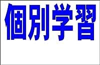 シンプル看板Lサイズ 「個別学習 余白付(紺)」<スクール・塾・教室>屋外可