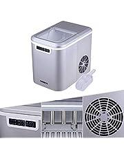 Arebos Ijsblokjesmachine | 2,2L Icemaker | Ijsmachine 12KG in 24 uur | 2 ijsblokjesmaten | LED-scherm | BPA-vrije ijsblokjesschep en houder