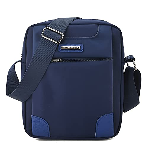 Bolso de Hombro de Tela Oxford Mochila de Mensajero para Hombre Bolso de Hombro Informal Bolso pequeño maletín