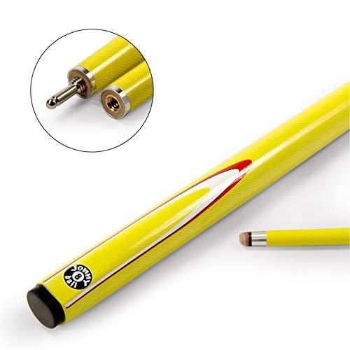 Jonny 8Ball 57cm amarillo INFERNO 2pieza grafito piscina billar–9mm punta