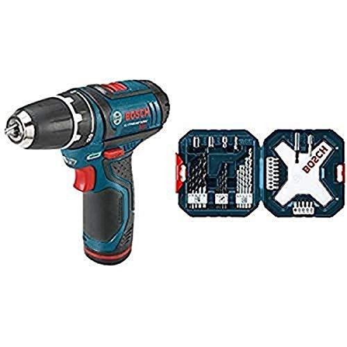 "Bosch PS31-2A 12V Max 3/8"" Drill/Driver and 34-Piece ..."
