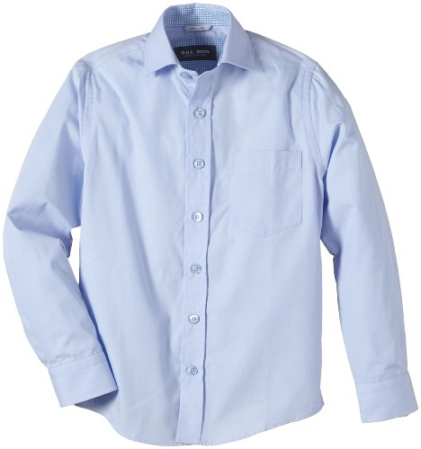 G.O.L. Jungen Hemd mit Haifischkragen, Slimfit, Einfarbig, Gr. 164, Blau (skyblue)