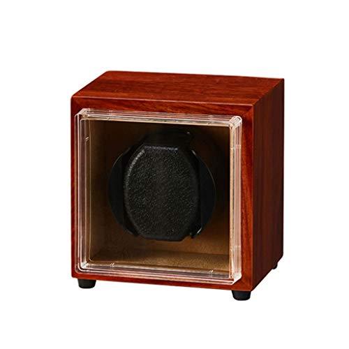 zyy Reloj automático de lujo, almohada de reloj suave recargable por USB, 5 modos, motor silencioso, caja de bobinado de relojes de madera (color 1+0)