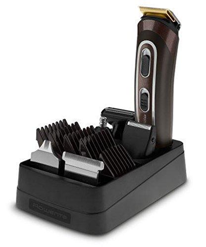 Rowenta, Trim & Style - Kit de Aseo personal 12 en 1: Afeitadora y perfiladora multifunción para el rostro/barba/cuerpo/cabellos, con tecnología seco y húmedo