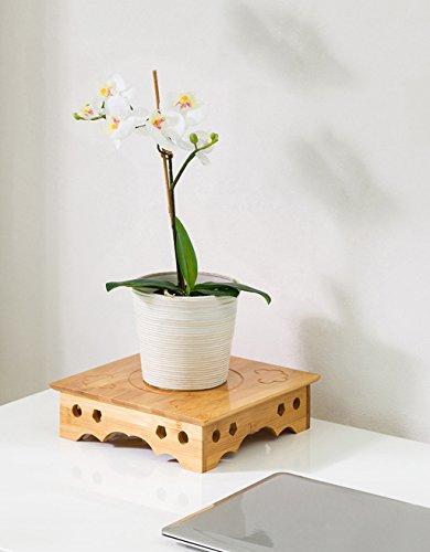 William 337 Support de fleur de bureau en bois massif Support de fleur de bureau créatif Sculpté Pot en bois