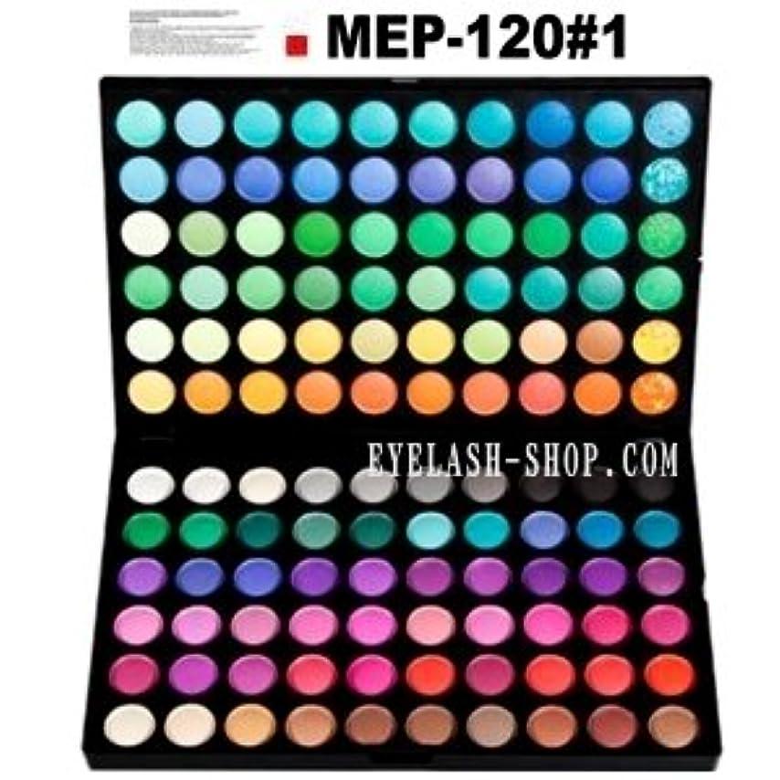 ハッピーまだ実用的アイシャドウパレット メイクパレット 120色 プロ用 アイシャドウ、アイズパレット MEP-120#01