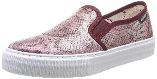 Victoria Slip On Tej Serp Metalizado - Zapatillas de Deporte de Canvas para Mujer Rosa Rose (Rosa) 40