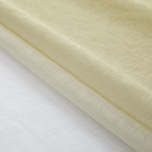 Cortinas de tul azul degradado para dormitorio de 400 cm de altura, cortinas de organza para tratamiento de ventanas, cortinas, 100 x 400 cm, 1 unidad, 3. Ganchos de cinta superior
