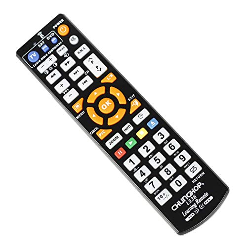 Universal IR Learning Remote Control for Smart TV VCR CBL DVD Sat STR-TV CD VCD HI-FI AMP 6 in 1 L660 Multifunctional Controller with programmable Function (3 in 1 CHL336 Remote)