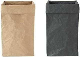大直「SIWA・紙和」和紙のボックス・ゴミ箱 L ブラウン