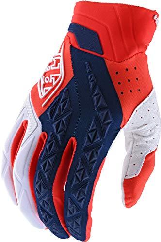 Troy Lee Designs SE Pro - Guantes de motocross (talla XL), color naranja y blanco