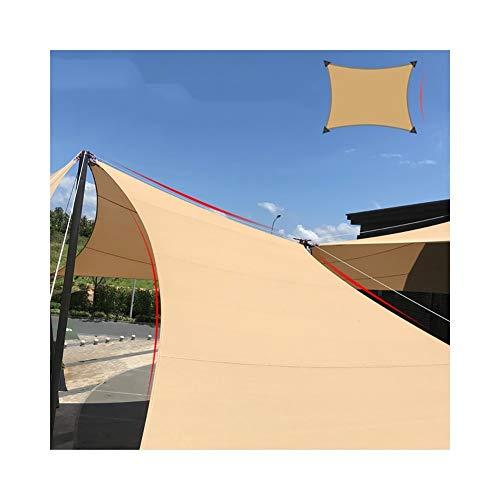 YUDEYU Sonnencreme Vier-Eck-Sonnensegel Markise (Beschattungsrate 90%) (Color : Beige, Size : 6x8m)