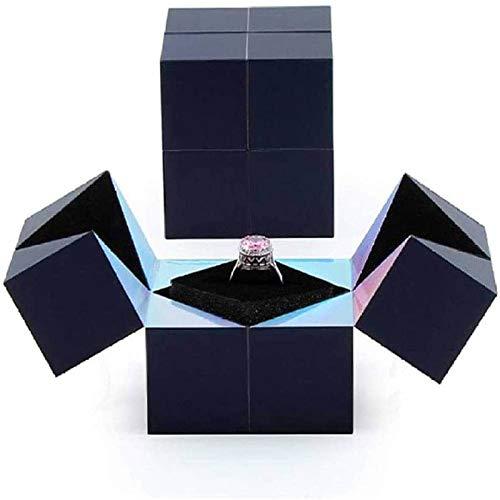 Caja De Anillos Rubik Creativa Para Proponer Matrimonio, Brazalete Y Joyería Caja Mágica De Cubo Giratorio Cajas De Regalo Para La Propuesta De Boda De Compromiso