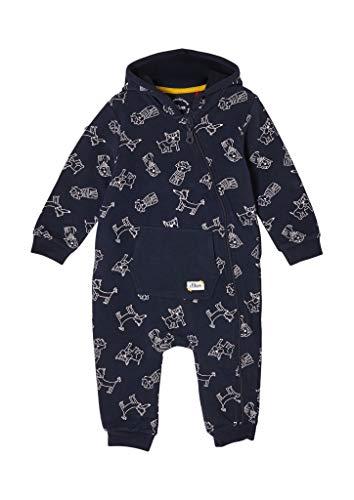 s.Oliver Junior Baby-Jungen 405.10.102.20.201.2057997 Einteiler, Dark Blue AOP, 80