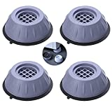 4 Piezas Goma Amortiguador de Vibraciones,Amortiguador de vibraciones universal,Lavadoras Lavadora Antivibración Pies Almohadillas para las Secadoras de Lavadora(L)
