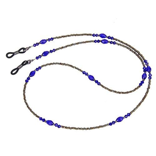 NUOLUX Eyeglass Retainer Eyeglasses Beaded Chain Holder for Women (Blue)