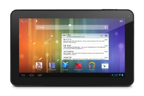 Ematic XL Multi-Touch Genesis Prime 10-inch Android 4.1 Jellybean 4GB Tablet, Black