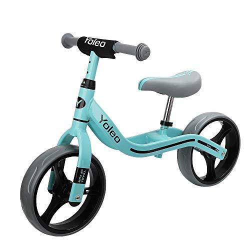 YOLEO Kinder Laufrad Lauflernrad Balance Fahrrad Kinderrad für Jungen und Mädchen ab 2-3 Jahre 7cm Breit Reifen nur 2,64 kg